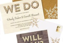 Hand designed Kraft paper A7 envelopes by Lovely Designs