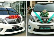 The Wedding of Ryan & Rilia  Coral and Magenta theme ---  The Wedding of Bob & Yovita  Mint Green and Soft Blue theme by Priority Rent car