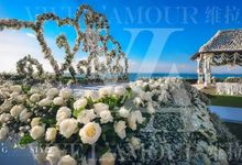 White Wedding At Ayana Villa bali by Marlyn Production