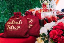 Pouch Bag for Indra & Felicia E-day by SH Printing and Hampers