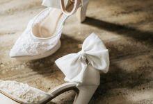 @celineysphn | #SachlireneYanelle WHITE 14cm block heels by SACHLIRENE TFOTA