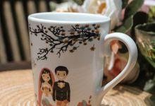 Rino & Amanda by Mug-App Wedding Souvenir