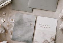 Gold Ginko Leaf by Pensée invitation & stationery