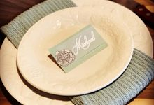 Wedding Place Cards by paper & string