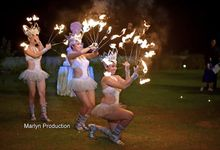 Fire Dance With Firework Show by Marlyn Production