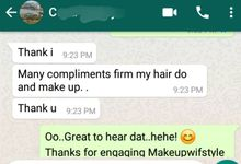 Happy Clients Compliments and Feedbacks by Makeupwifstyle