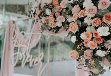 Blush Pink Solemnisation at Glasshouse Amara Sanctuary Resort Sentosa by Lily & Co.