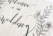 Wedding Reception Sign by dora prints and paper goods