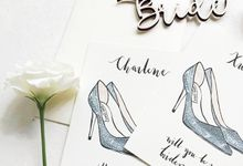 Will You Be My Bridesmaids? by dora prints and paper goods