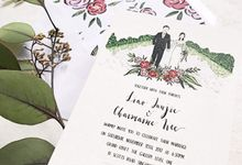 Garden Portrait | Junjie & Charmaine  by dora prints and paper goods