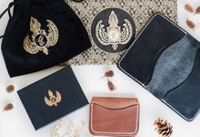 Leather Passport - Card case - and Coin pouch by Rove Gift