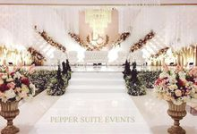 Blush and rose gold wedding by Pepper Suite Events