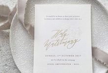 White Orchid Suade Invitation by Pensée invitation & stationery