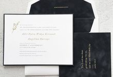 Modern Grey Suade Invitation by Pensée invitation & stationery