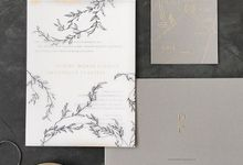 Modern Forest by Pensée invitation & stationery