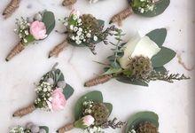 Gisha & Ramzi Wedding by Amarante Flower Boutique