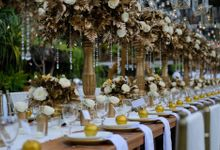 Elegance White on Gold by magical blossoms