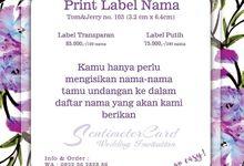 PRINT LABEL NAMA by SentimeterCard
