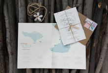 """A Love Letter from Bali"" Andrew ♥ Melina by Pensée invitation & stationery"