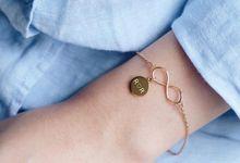 Infinity bracelet with initial by LINCA Jewellery