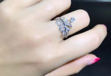 Infinity Leaf Diamond Rings by Pointers Jewellers