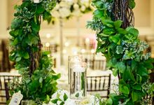 An enchanted Garden with a touch of modern glam by Flowers by Amore