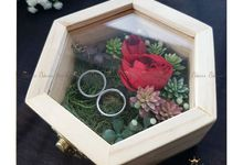Hexa Box - Natural | Wedding Ring Bearer Box Indonesia - Celemor by Celemor