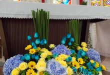 Blue Yellow Wedding by etreehome