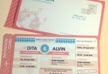 Undangan Boarding pass Dita & Alvin by Tiara Undangan