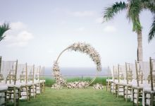 Romantic and Sweet Wedding overlooking the Bali Ocean at Latitude Villa by Silverdust Decoration