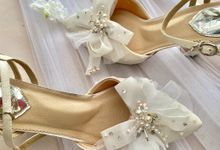A few of Our White Wedding Bridal Designs by Aveda Footwear