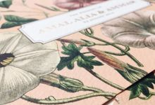 Botanical Garden in blush and gold by Spinsugar Stationery