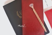 Leather Notebook by Ellinorline Gift