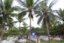 A Romantic Beach Wedding at Club Punta Fuego by Orange Lights and Sounds Inc.