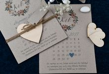 VINTAGE CRAFT FLORAL INVITATION by ES PROUD INVITATIONS