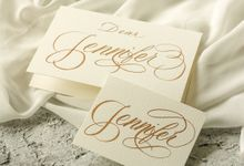 Custom Greeting Card for Prisky's Bridesmaids by Calligraphy By Mercia