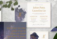 Julian & Laurensia by Petite Chérie Invitation
