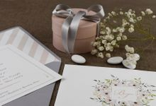 ROMANTIC FLORAL WINTER FLAVOR INVITATION by ES PROUD INVITATIONS