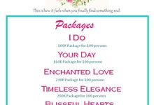 Wedding Packages by iDream Wedding & Events