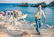Folegandros beach wedding by Olive Hearts