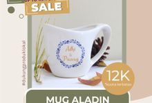 FLASH SALE MUG ALADIN WEDDING SOUVENIR by Mug-App Wedding Souvenir