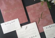 Justin & Belinda by Vinas Invitation