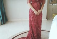 Red for Wedding Reception by Arthaputri Atelier