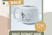 FLASH SALE MUG DONAT MINI WEDDING SOUVENIR by Mug-App Wedding Souvenir