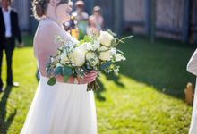 Rustic White and Green Wedding by Stone House Creative
