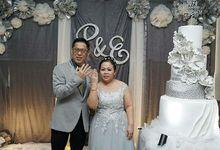 Silver Wedding Anniversary by Liebelux Cake
