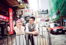 Bustling Street of Hong Kong by Cang Ai Wedding