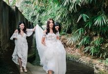 Real Wedding featured in Wedding Magazine Style me Pretty by Bali Hair and Makeup  / Anja buerck
