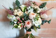 Blushing Bridal Bouquet by Flourish by Charlene