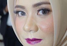 Sister of the bride by Makeupbyafnanmaya